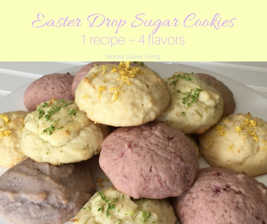 Drop Sugar Cookies ~ 1 easy reicpe, 4 delicious flavors // Money Savvy Living