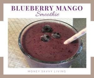 Blueberry Mango Smoothie // Money Savvy Living