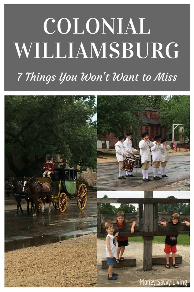 Colonial Williamsburg: 7 Things You must do on Your Next Visit // Money Savvy Living