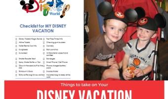 Things to take on your Disney Vacation #checklist #disney #disneyvacation #familyvacation #frugal #vacation #vacationideas #cheapvacation #familyfriendly #travel #traveltips #traveldestinations #travelhacks #travelhacksandadvice