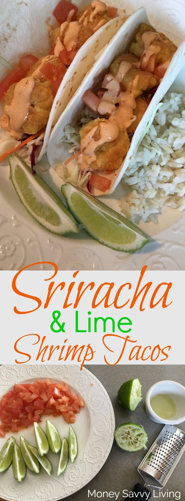 Sriracha Shrimp Tacos // Money Savvy Living