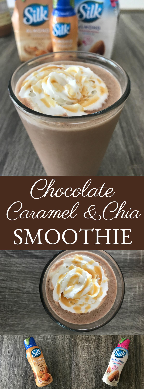 Chocolate Caramel Chia Smoothie // Money Savvy Living // #PlantBasedGoodness