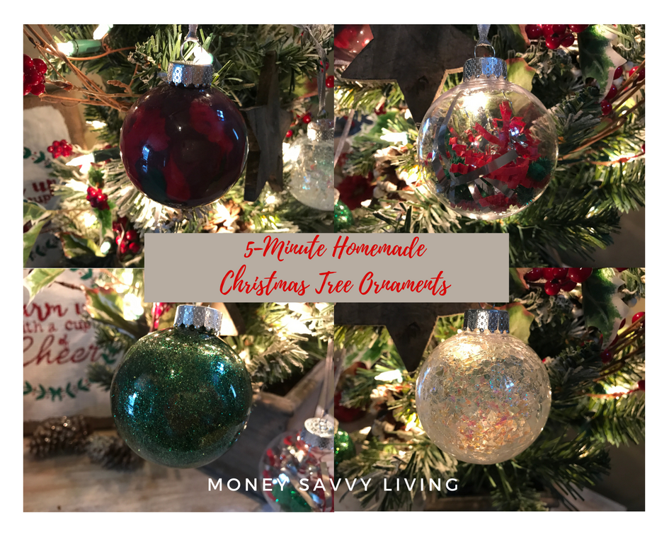 5-Minute Homemade Christmas Tree Ornaments. The creativity is nearly endless with these clear ornaments! Here are just a few ways to make beautiful Christmas decorations in only 5 minutes! #ornaments #Christmas #christmascrafts #christmascraftideas #christmasdecor #christmasornaments #christmasdecorations #christmasdecordiy #christmasdecorationsdiy #christmasornaments #christmasornamentsdiy #ornaments #christmascraftsforkids