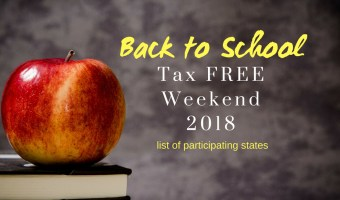 Back to School Tax Free Weekend 2018 // Money Savvy Living #taxfreeweekend #taxholiday #backtoschool