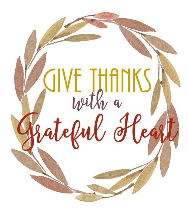 Give Thanks with a Grateful Heart FREE Fall Printable #fall #autumn #printable #Thanksgiving