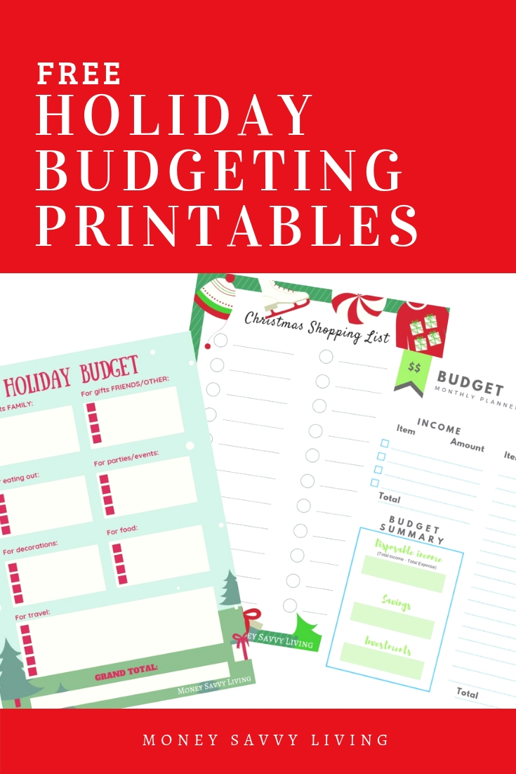 Don't wait until the New Year to think about your financial goals, start now! Create a specific budget for Christmas and the holiday season.#printables #freeprintables #holiday #christmas #budget #holidayshopping #christmasshopping #christmasgifts #holidaytravel #travel #christmasparty