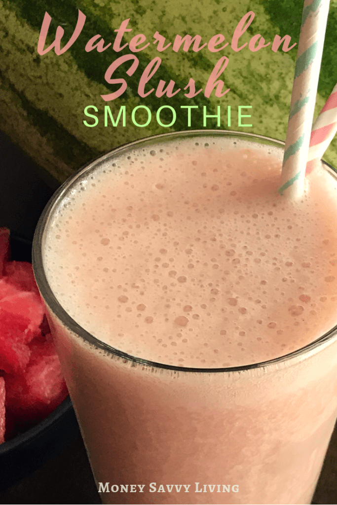 Watermelon Slush Smoothie #watermelon #smoothie #plantbased #glutenfree #breakfast #healthy #smoothierecipe