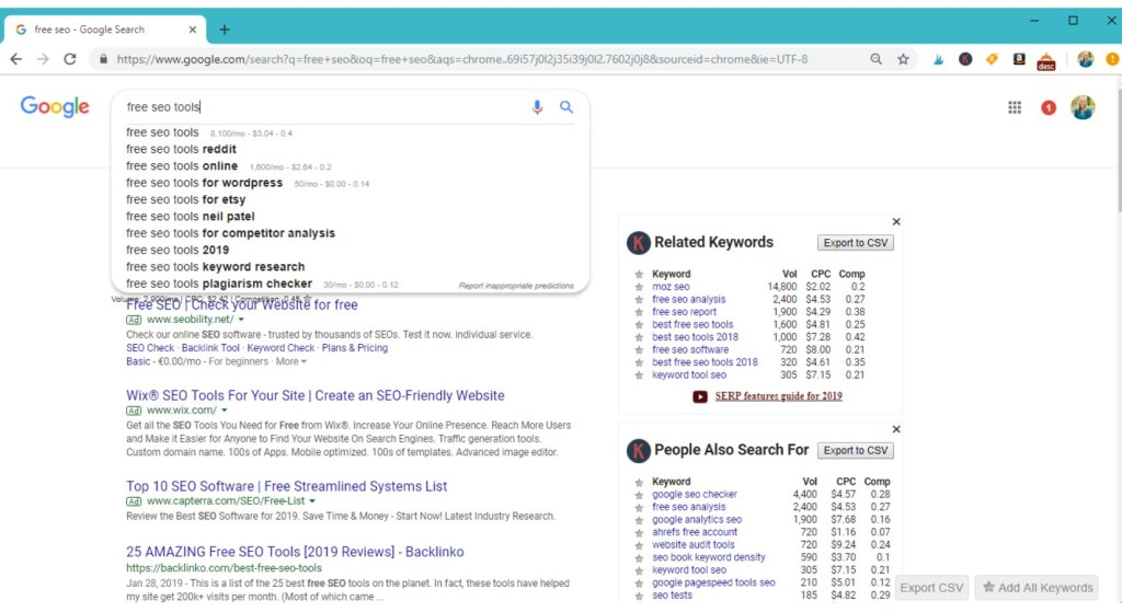 Free keyword tool #googleextension #keywordseverywhere #seo #keywords #keywordkeg #seotool