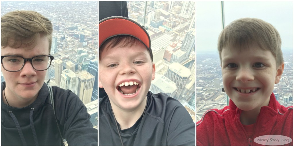 View Chicago from the 2nd tallest building in the Western Hemisphere! Visit the 103 floor of the Willis Tower for SkyDeck and the Ledge for mountaintop views of Chicago! #SkyDeck #SkyDeckLedge #observationdeck #chicago #choosechicago #travelchicago #familytravel #willistower #glassfloor