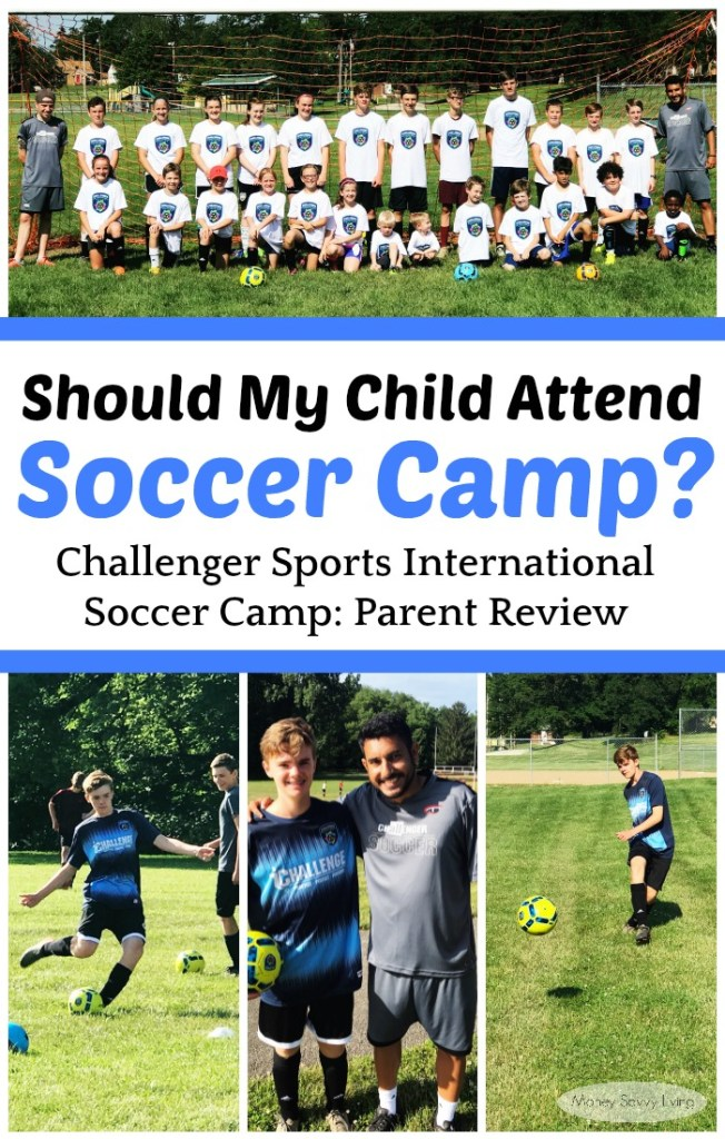 Should you send your child to soccer camp this summer?  Read my parent review here: Challenger Sports International Soccer Camp Parent Review #soccer #soccercamp #challengersports #usfamilyguide #usfg #internationalsoccer