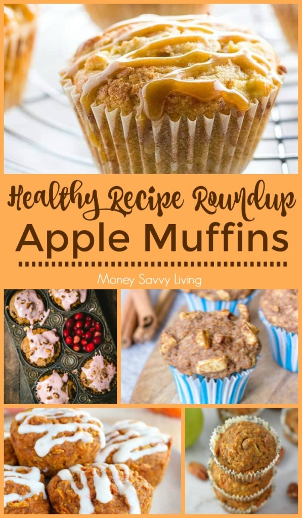 Healthy Apple Muffin Recipes for Fall #apple #appledesserts #applerecipes #healthy #healthydesserts #healthyrecipes #healthyapplerecipes #applemuffins #muffinrecipes #healthymuffins