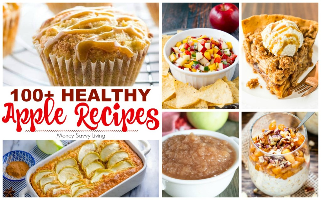 101 Tasty and Healthy Apple Desserts & Recipes for Fall #apple #appledesserts #applerecipes #applepie #applecake #healthy #healthydesserts #healthyrecipes #healthyapplerecipes