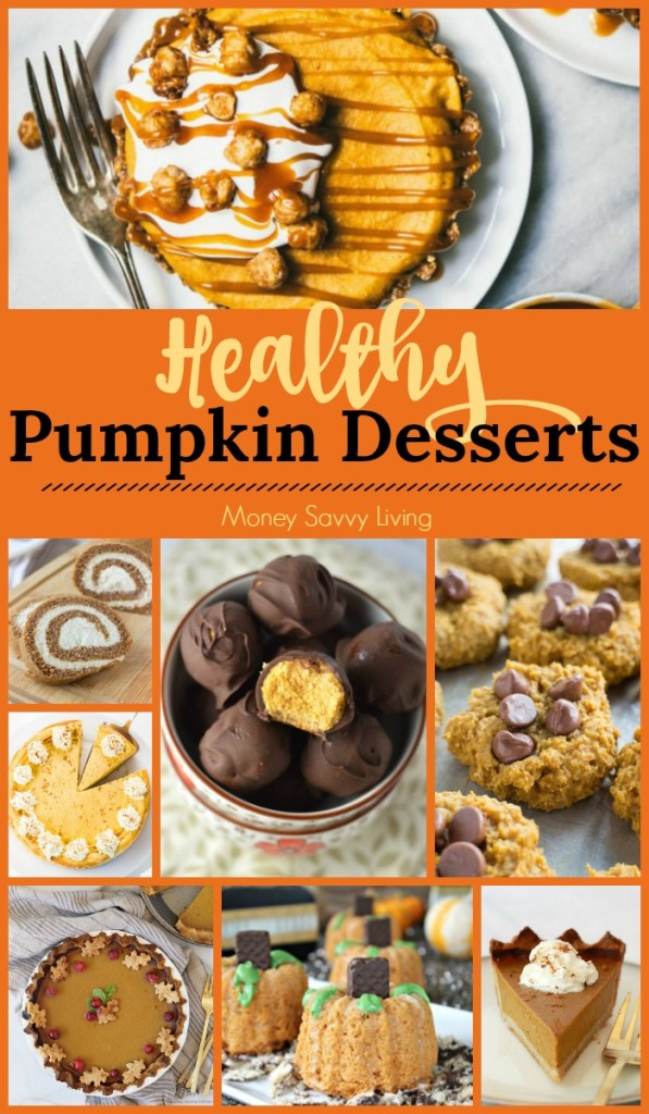 Looking for Healthy Pumpkin Desserts for fall? This is the ultimate roundup with 101+ healthy pumpkin recipes! #healthy #healthyliving #healthycooking #pumpkin #pumpkindesserts #pumpkinpie #pumpkincookies  #healthyrecipes