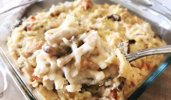 Looking for a way to use all those turkey leftovers from Thanksgiving? This Turkey Tetrazzini recipe is so good, your family won't even realize it's leftovers! #turkey #tetrazzini #turkeyrecipe #turkeyleftovers #Thanksgiving #Thanksgivingleftovers #easyrecipes #turkeytetrazzini #chickentetrazzini #glutenfree #glutenfreerecipe
