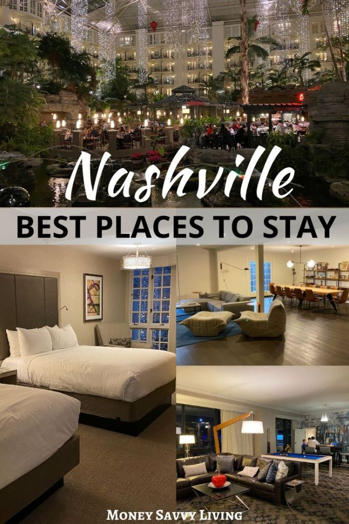 Best Places to Stay in Nashville. When taking a big family vacation, it can be hard to find places to stay that are good for gathering and common areas, but also provide privacy. #nashville #tennessee #familytravel #bigfamily #familyvacation #travel #nashvillehotels #nashvilleresorts