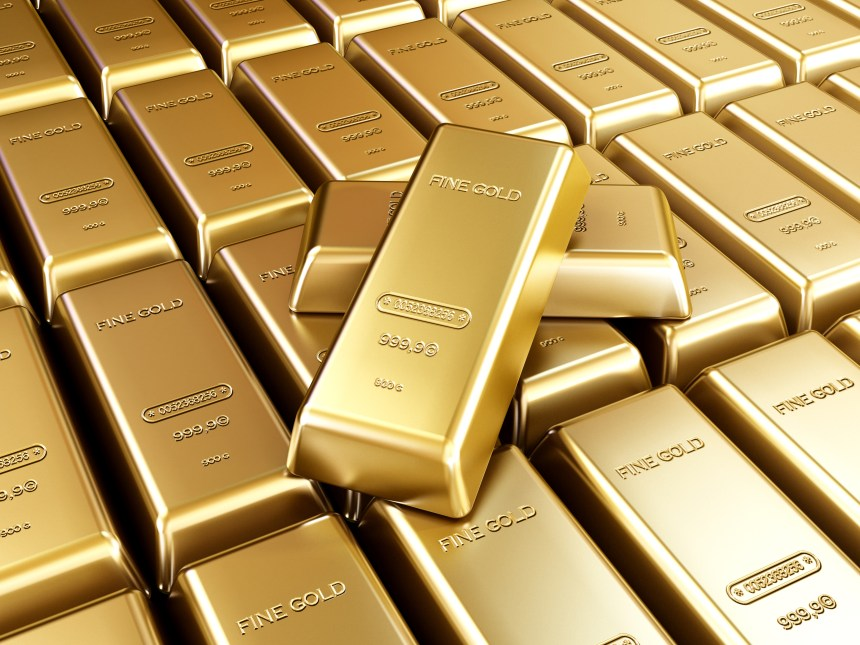 Gold bars arrangement