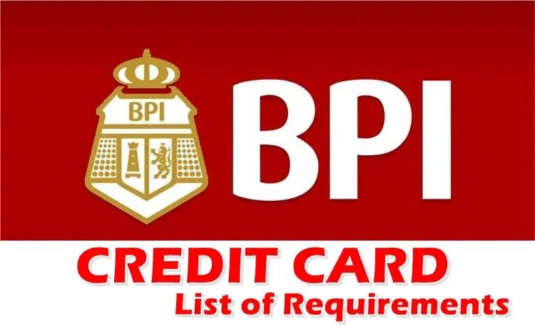 BPI Credit Card Requirements