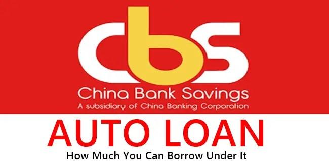 China Bank Auto Loan