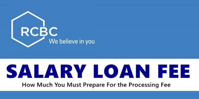 RCBC Salary Loan Fee