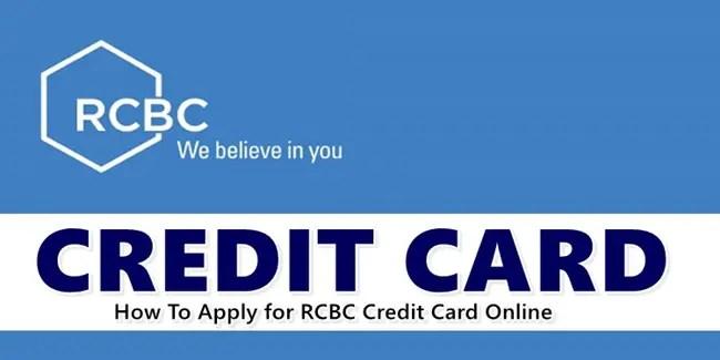 Apply RCBC Credit Card