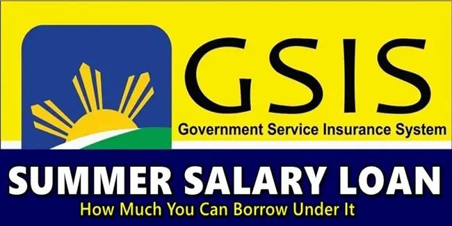 GSIS Summer Salary Loan