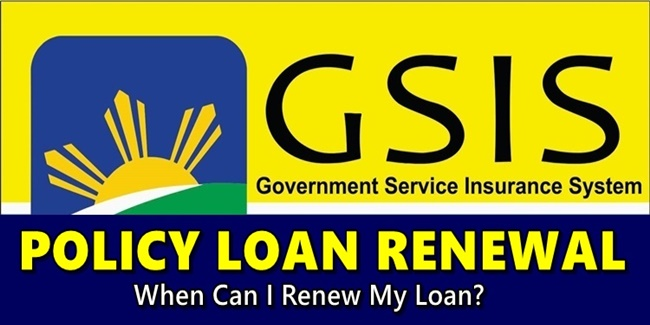 GSIS Policy Loan renewal