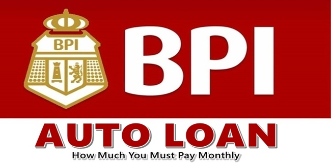 BPI Auto Loan Monthly Payment