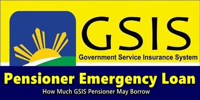 GSIS Pensioner Emergency Loan
