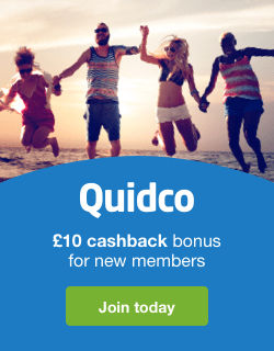 Quidco £10 Sign Up Offer