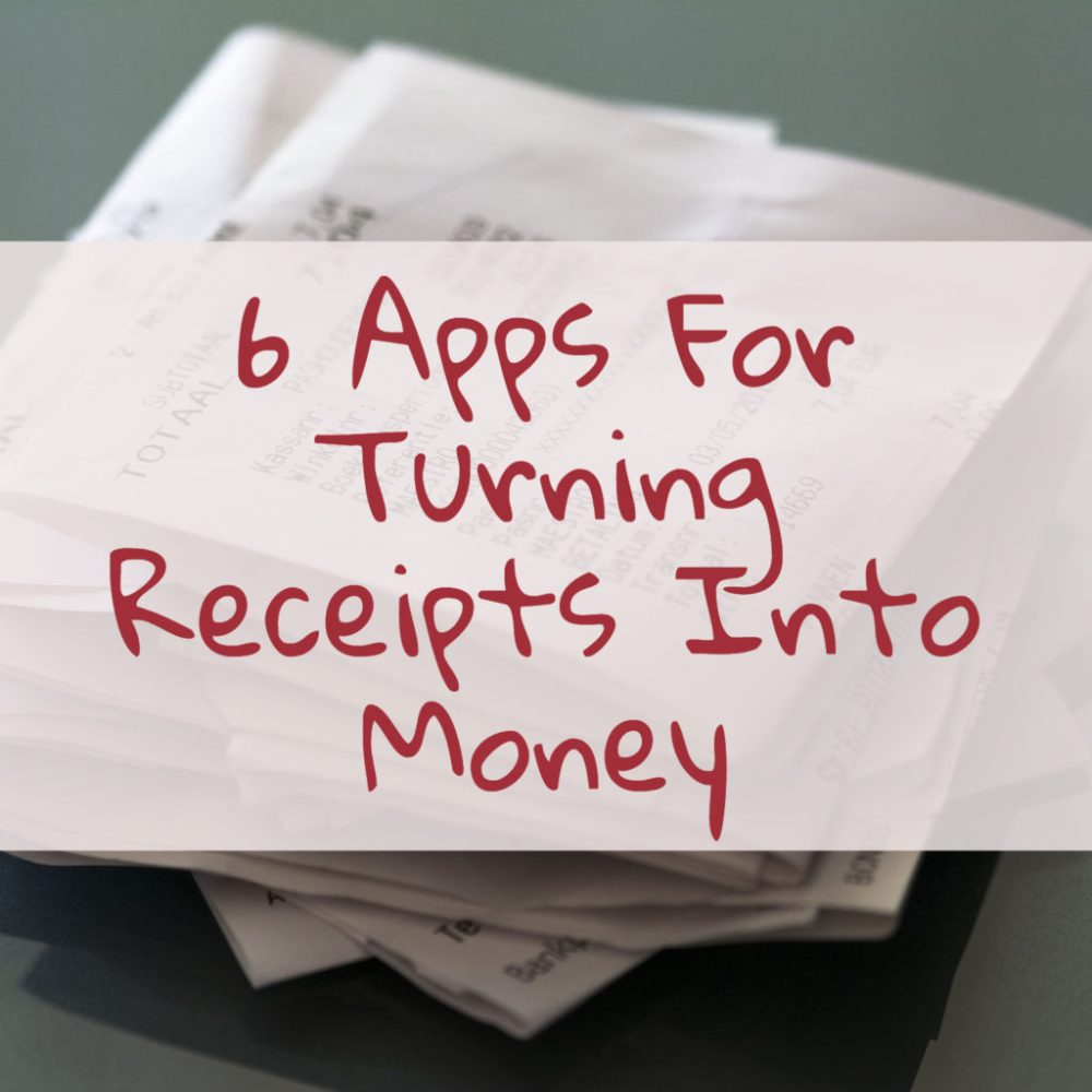 six apps for turning receipts into money - featured image - moneyskipper