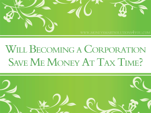 small business corporation to save money