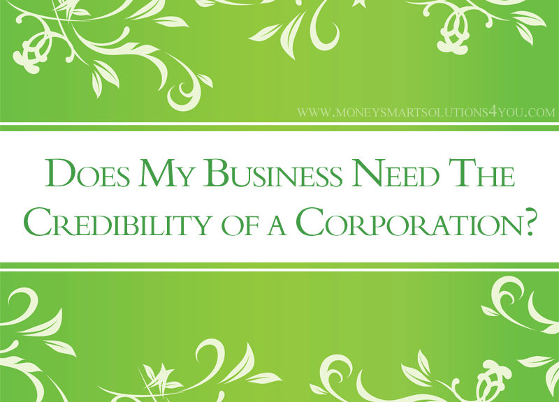small business corporation for credibility