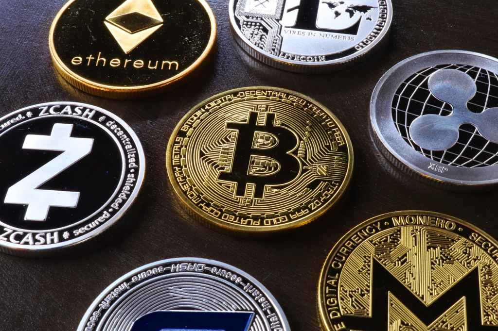 various cryptocurrency table
