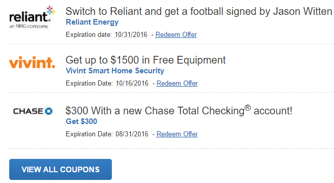 Chase Coupon Promo Codes: $200, $300, $350, $500, $625, $750, $1250