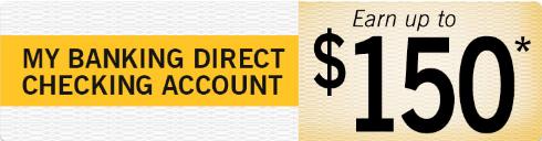 My Banking Direct $150 Checking Bonus