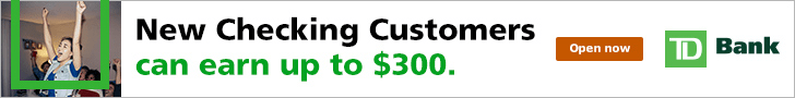 TD Bank $300 Checking Account Bonus