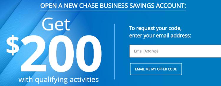 Chase Business Savings $200 Bonus Q3 2018