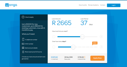 Wonga Loans in South Africa