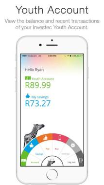 Investec Youth Account - Mobile Banking