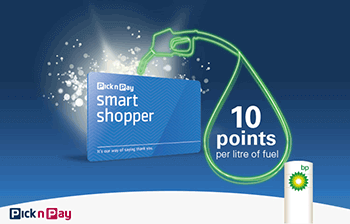 Pick n Pay SmartShopper Fuel Rewards and BP