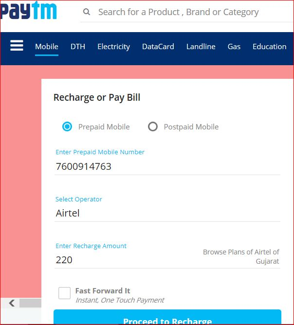 Paytm Recharge-Mobile Wallets for Cashless Transactions