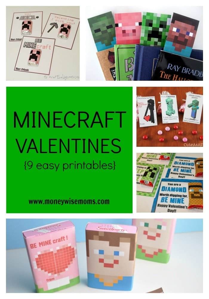 Minecraft Valentines 9 Easy Printables Moneywise Moms