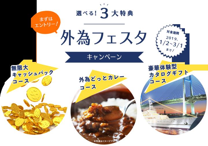 1月2日(水)スタート「外為フェスタキャンペーン」実施のお知らせ