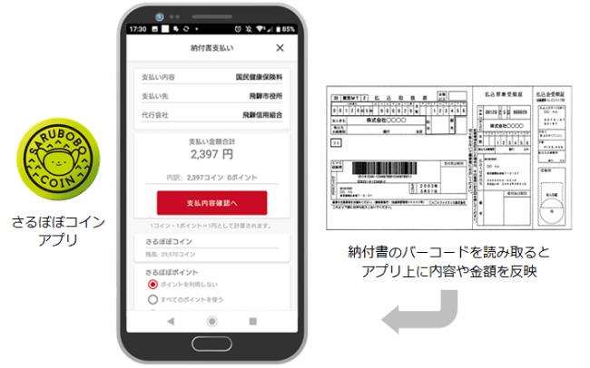 岐阜県・飛騨高山地域の電子地域通貨「さるぼぼコイン」が飛騨市の市税等支払いに対応