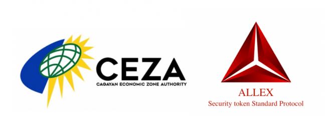 セキュリティトークン専用の独自規格『ALLEX TOKEN』がフィリピンCEZAで上場のお知らせ