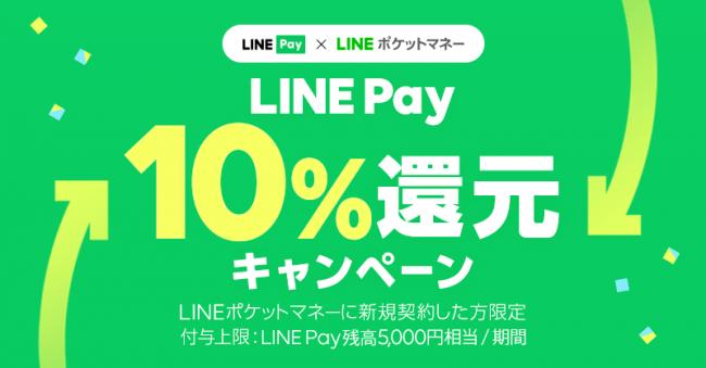 LINEポケットマネーとLINE Pay、10%還元の過去最大共同開催キャンペーン