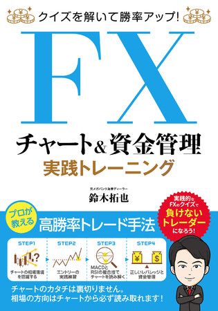 FX実践問題36パターンで上級者の実力が手に入る!『クイズを解いて勝率アップ! FX チャート&資金管理 実践トレーニング』を刊行 & FX会社とタイアップ実施