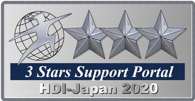 2020年「HDI格付けベンチマーク」問合せ窓口・Webサポートにおいて 3年連続三つ星獲得のお知らせ