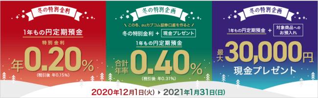 貯蓄・資産運用を応援する3つのキャンペーン開始