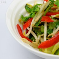 Bean sprout and cucumber salad